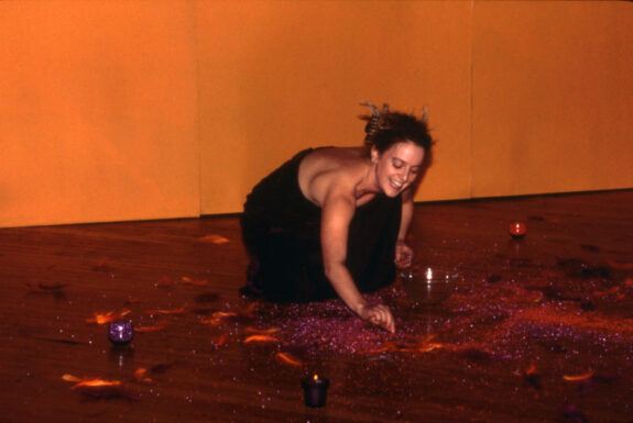 Allison Cummings performing Orange and Violet Fragments at 87 Wade Ave