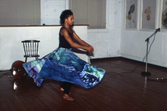 Anne-Marie Hood performing untitled at DeLeon White Gallery