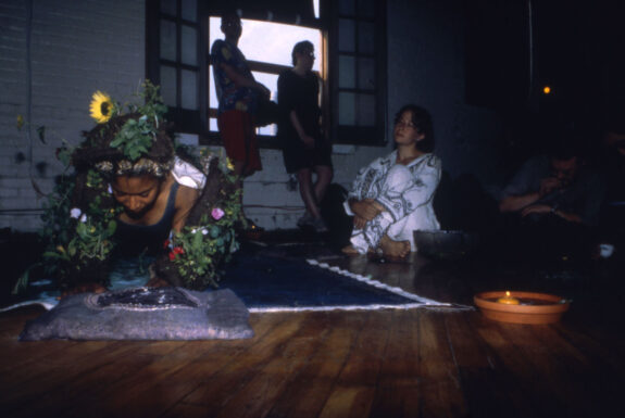 Anne-Marie Hood & Michelle Bakic performing …Of Necessity at 87 Wade Ave