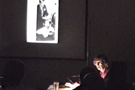 Elisabeth Jappe presents her talk Action Art in Germany at Some Assembly Required, 7a*11d 1998