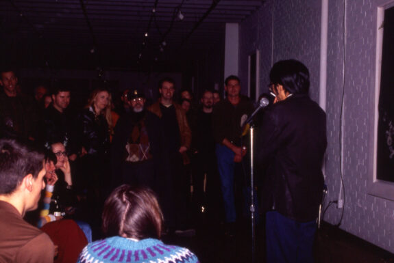Robert Lee performing untitled at DeLeon White Gallery