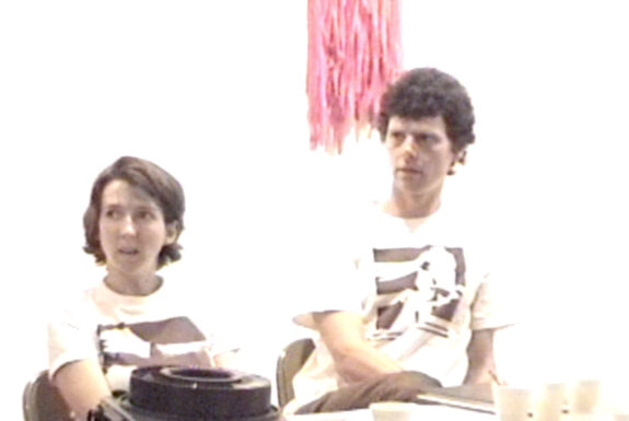 Kika Thorne and Adrian Blackwell at the INterventionism panel discussion, 7a*11d 1998
