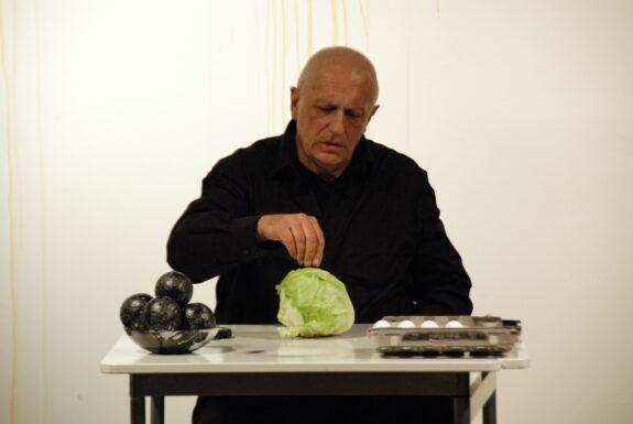 Norbert KLASSEN performing Viva Fluxus at XPACE Cultural Centre