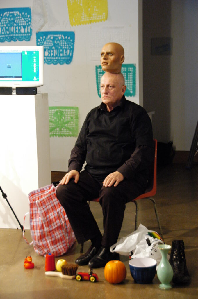 Norbert Klassen performing Terms of Engagement: Presence and the Performative at XPACE Cultural Centre