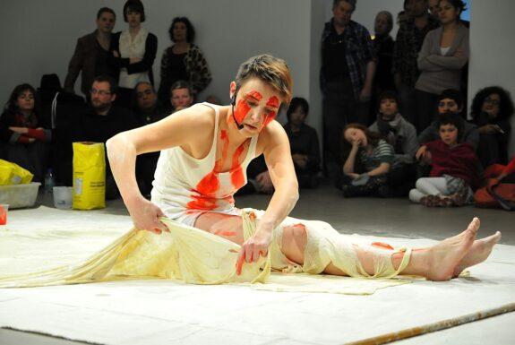 Bojana Videkanic performing 'Skin' at XPACE.