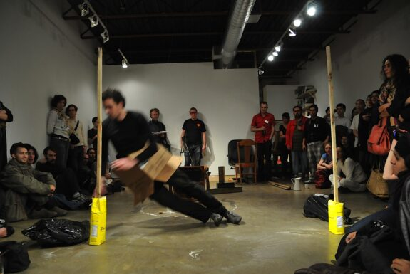 Maurice Blok performing 'untitled' at XPACE.