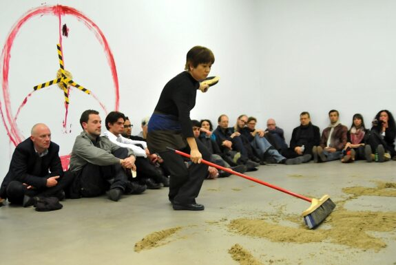 Kaori Haba performing 'Women in peace and war' at XPACE.