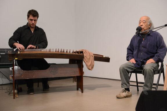 Nobuo Kubota with David Sait performing at Mercer Union