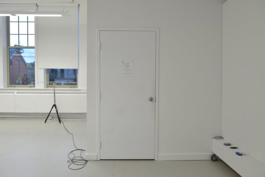 installation shot of claude wittmann's Radio Equals project