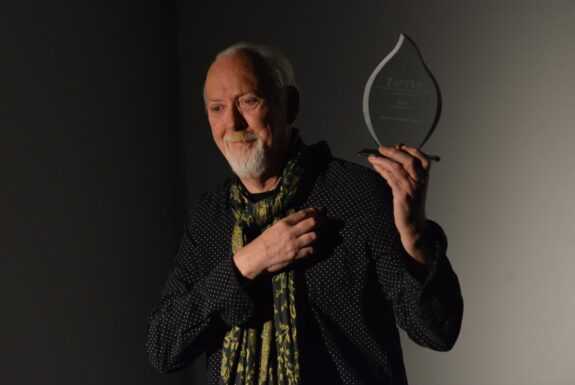 Clive Robertson performing at Artscape Youngplace