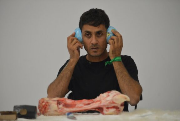Ali Al-Fatlawi and Wathiq Al-Ameri performing at Artscape Youngplace