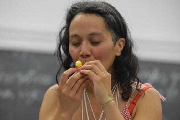 Aidana María Rico Chávez performing at Artscape Youngplace