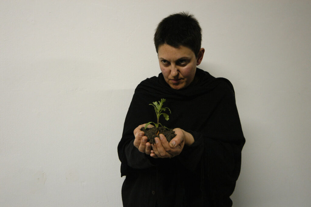 Vassya Vassileva performing In Search of Friedrich Nichtmargen at XPACE