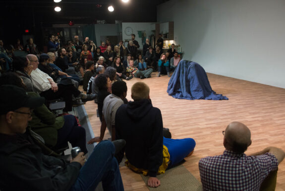 Serge Olivier Fokoua performing To dare is to do at Geary Lane