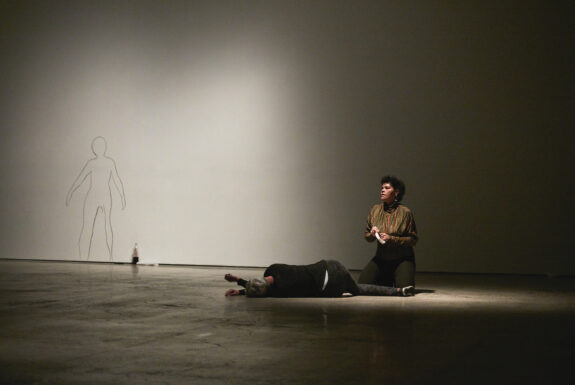 Louise Liliefeldt performing What Does It Mean to Forget at the Art Gallery of Ontario
