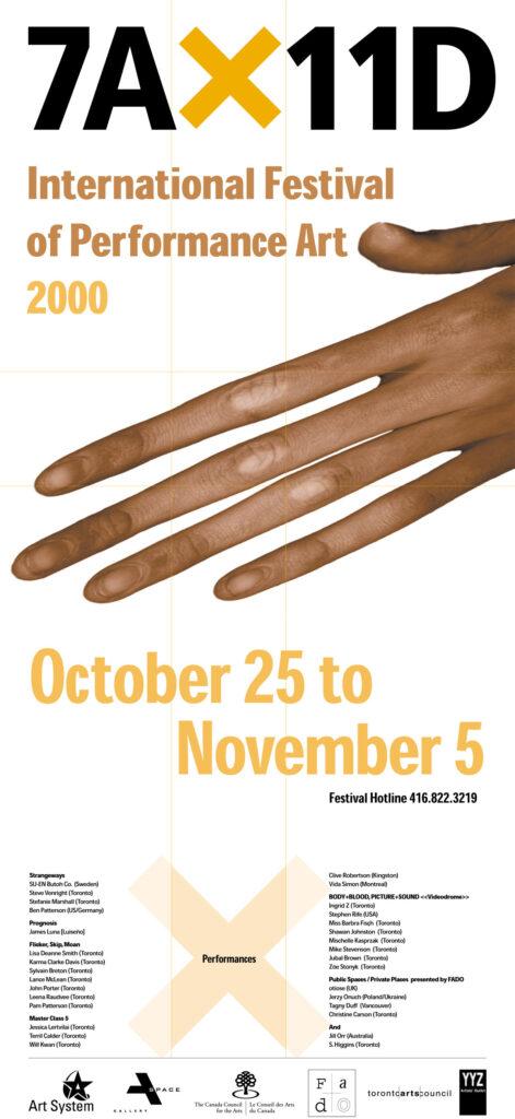 3rd 7A*11D International Festival of Performance Art Poster