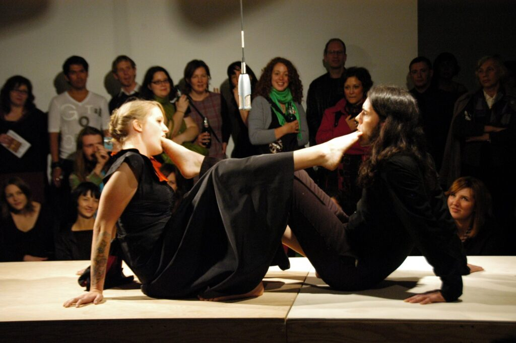 Stacey Sproule & Randy Gagne, How deep is your love? 7a*11d 2008 PHOTO Henry Chan