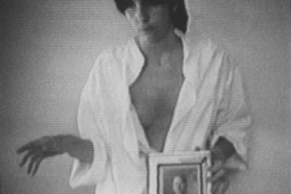 Lisa Steele, The Ballad of Dan Peoples 1976 video still