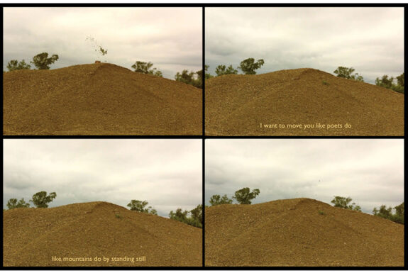 Maryse Arseneault, Movement in Still Places, video stills from performance/video poem