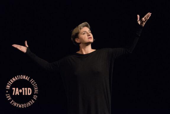 Lala Raščić performing Europa Enterprise, EE-0 at the Theatre Centre