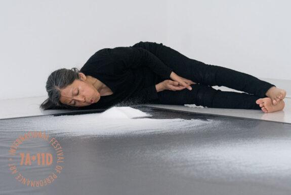 Elvira Santamaría performing Salt Cartographies at Sur Gallery