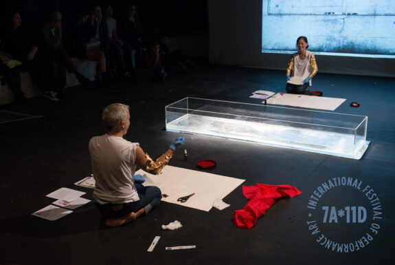 Ayumi Goto & Peter Morin performing Roaming at the Theatre Centre