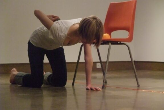 Essi Kausalainen performing Untitled (Toronto) at XPACE Cultural Centre