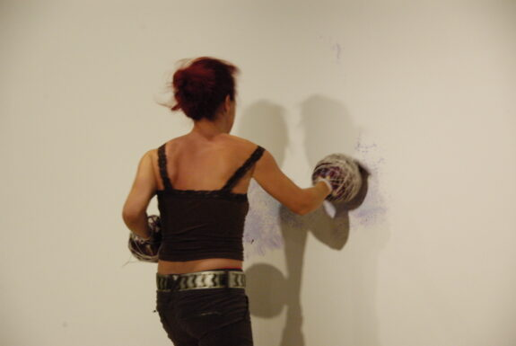 Sylvette Babin performing untitled at XPACE Cultural Centre